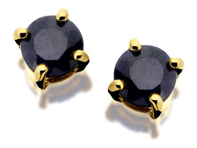9ct Gold Sapphire Solitaire Earrings  3mm - F.Hinds