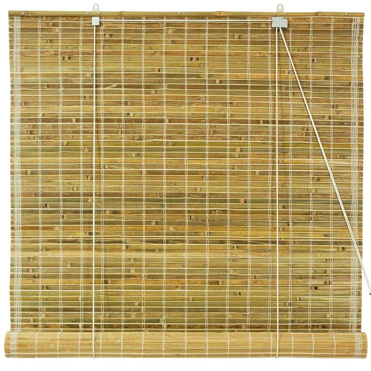 oriental furniture burnt bamboo roll up blinds