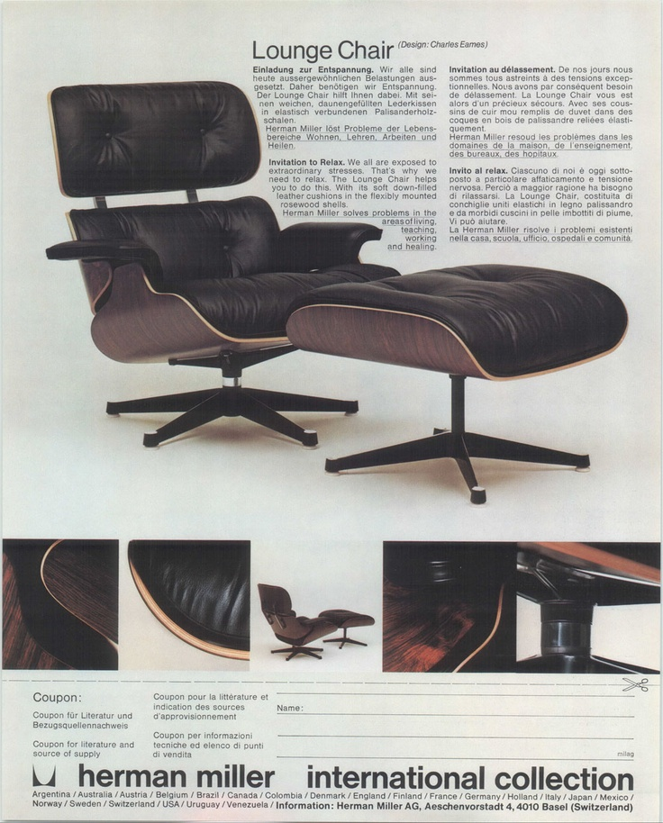 classic Charles Eames lounge chair for Herman Miller