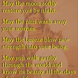 inspirational quotes blessings Apache blessings