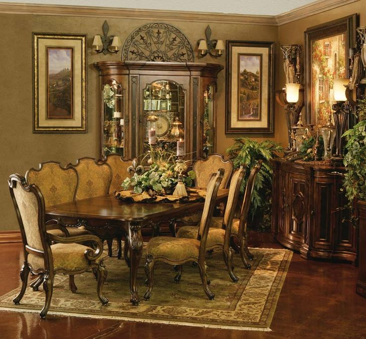 Tuscan Style Dining Room Furniture: 17 Best Ideas About Tuscan Dining Rooms On Pinterest