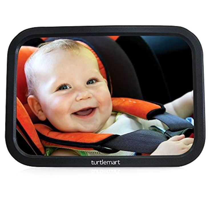 Baby Car Mirror for Adjustable Wide-angle Viewing of Back Seat Rear-facing Baby #TurtleMart