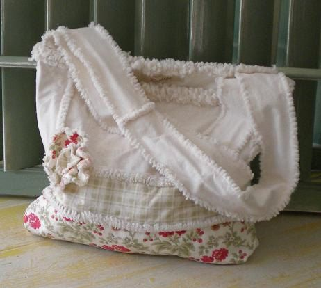 Darling rag quilt bag!!