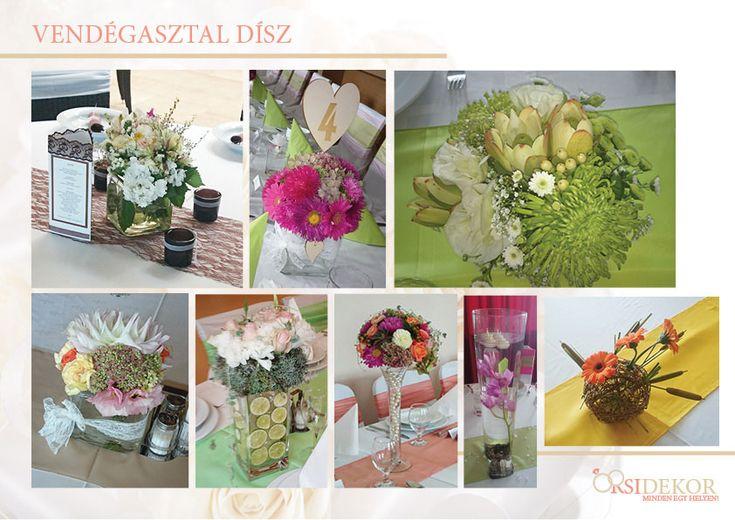 Esküvői asztaldíszek minden stílusban az Orsi Dekortól.