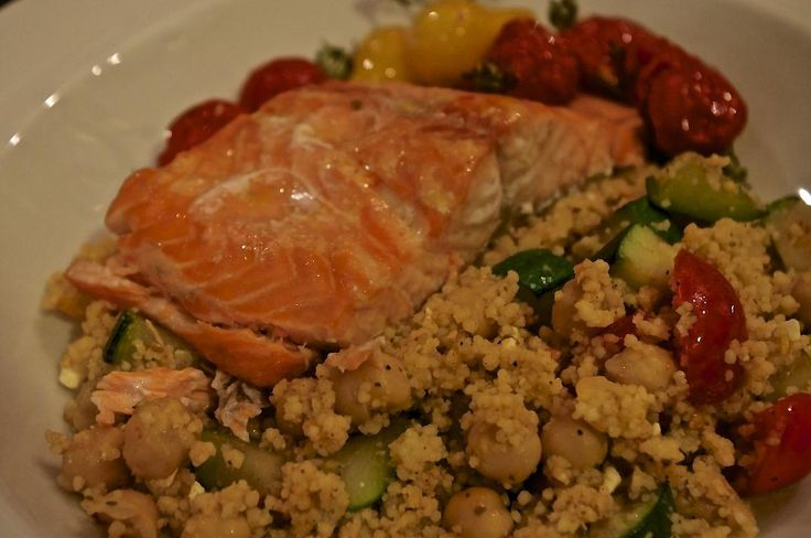 This is a simple Mediterranean salmon dish, that is not only extremely easy to make, but also very beneficial for your health