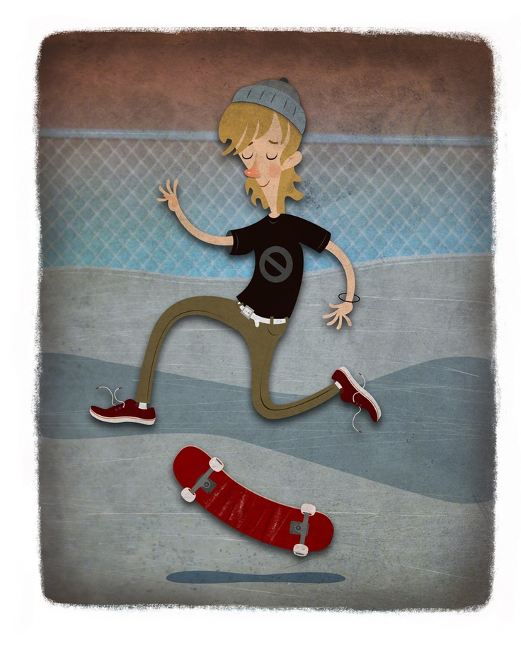 Skater Dude, by Kerry Meyer. www.kerrymeyer.com
