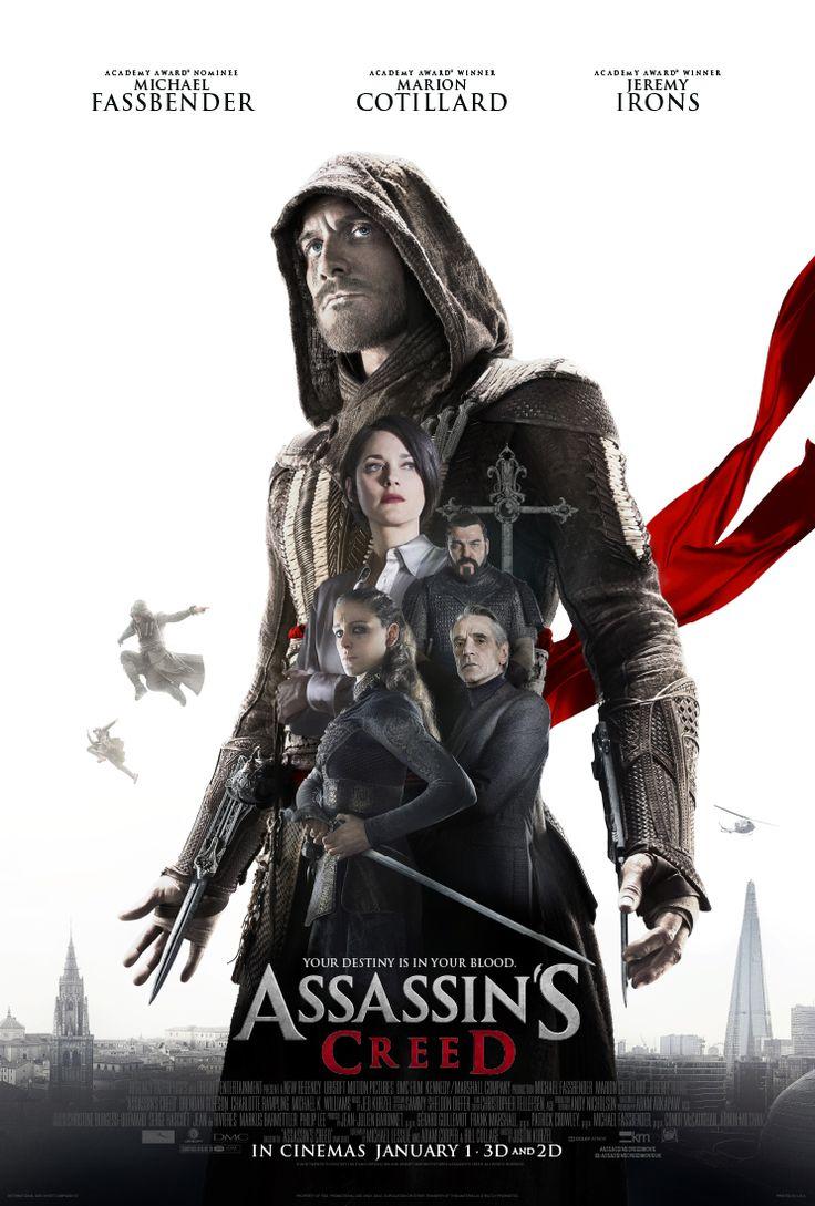Michael Fassbender encabeza el nuevo póster internacional de ASSASSIN'S CREED
