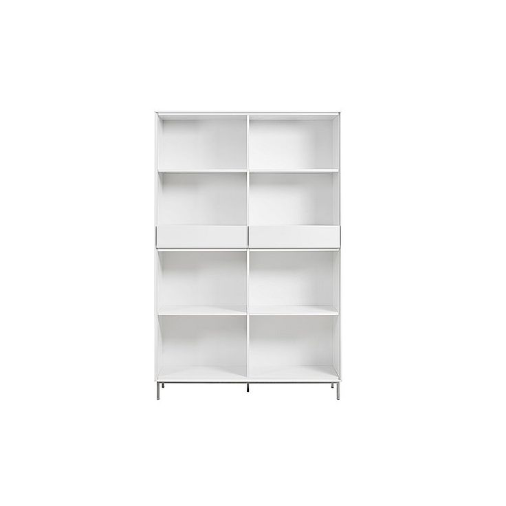 Bookshelves and Wall Units, S. Essentials Bookcase 2 Drawer (PI)