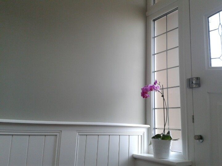 Farrow & ball Hardwick white  with wood panelling
