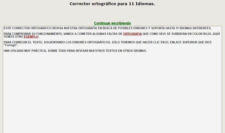 Corrector Ortográfico gratuito y online, compatible con 11 idiomas distintos. Una herramienta práctica para revisar textos y corregir errores de ortografía.