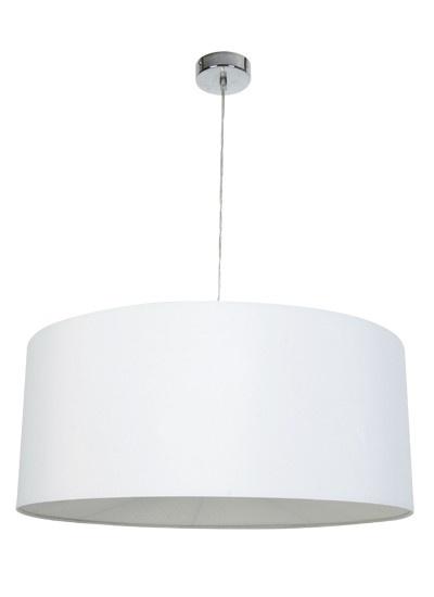 Yvette pendant in white chromelightingbeacon lighting