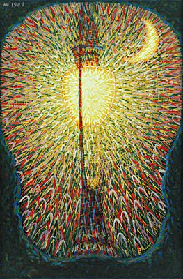 Street light par Giacomo Balla