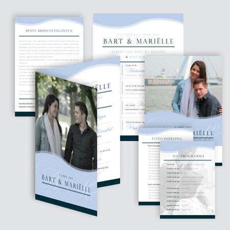 Trouwkaart Bart & Mariëlle, ontworpen door Ontwerp Studio Rottier