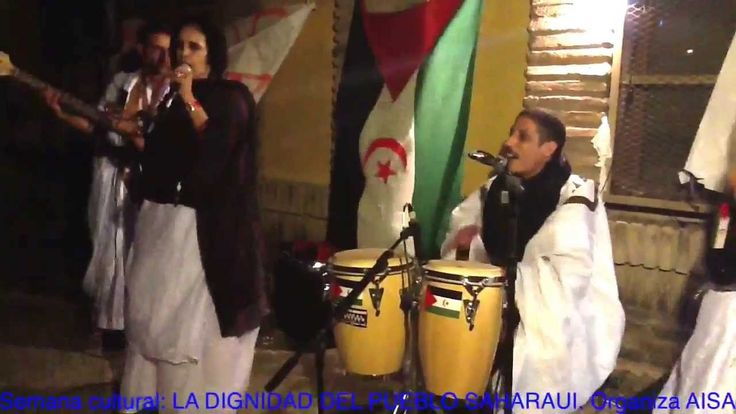 Grupo musical Western Sahara. Latifag3i ya saguia. Musica saharaui. Bail...