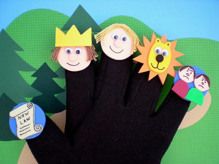 Bible Puppets, Daniel and the Lion's Den Story, Bible Character Puppets - product images  of