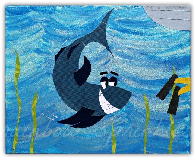 Wall Art Print 8 x 10-requin enfants, poisson, océan, mer, Art Kids, Art de la pépinière, pépinière chambre décor, salle de jeux par loverainbowsprinkles sur Etsy https://www.etsy.com/fr/listing/150535626/wall-art-print-8-x-10-requin-enfants