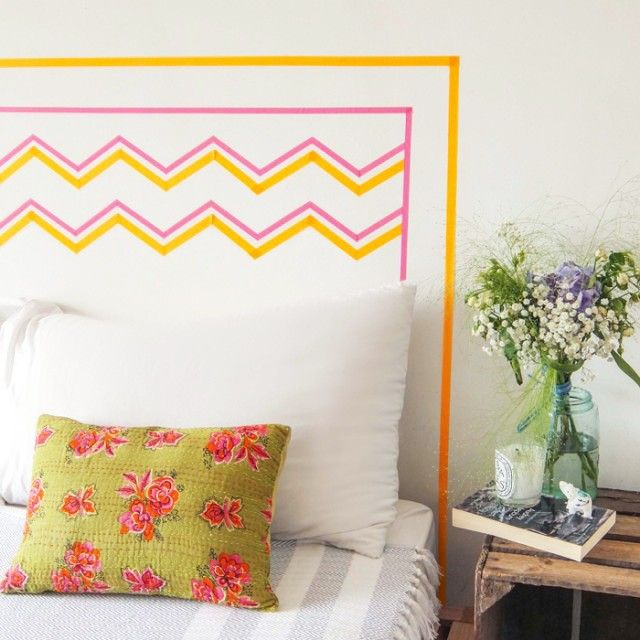 Ace Your Space Washi Tape Headboards Diy Washi Tape
