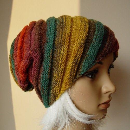 Zakręcony krasnal, boho czapka na zimę - Czapki, berety - Ubrania