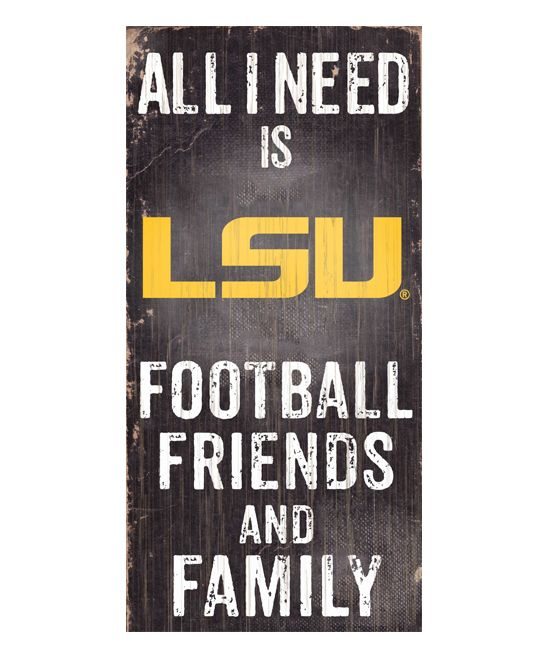 LSU Tigers 'Football Friends and Family' Wall Sign