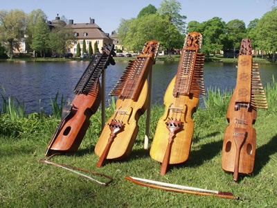 The nyckelharpa is a traditional Swedish instrument that has been played in one form or another for more than 600 years.  At least four different versions of the nyckelharpa are still played today.