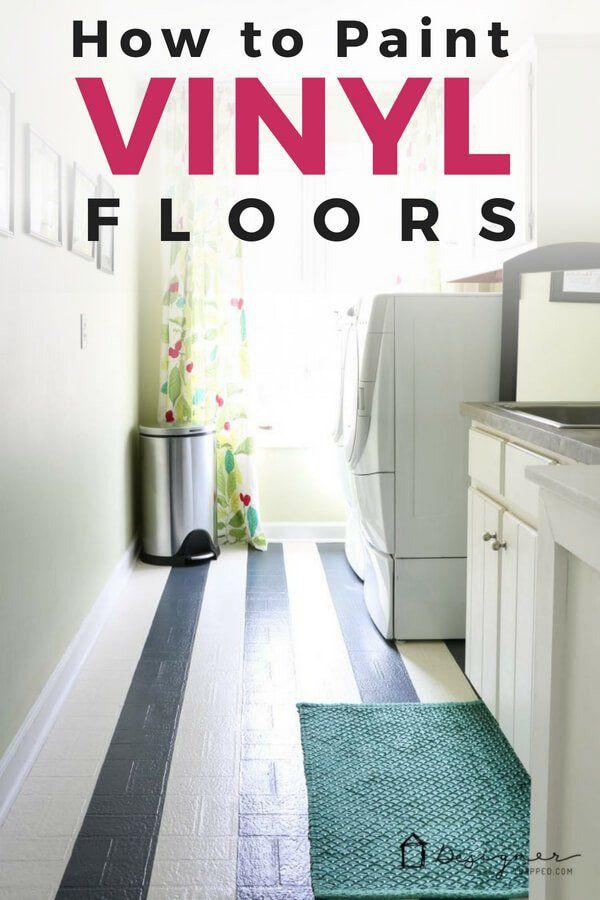 How To Paint Vinyl Floors Long Lasting Results Designer Trapped Painted Vinyl Floors Vinyl Flooring Diy Flooring
