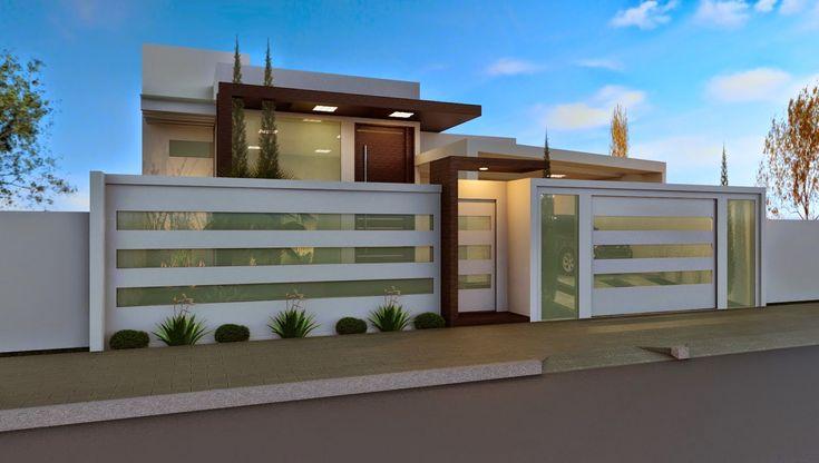 casas com portão de aluminio polido - Pesquisa Google