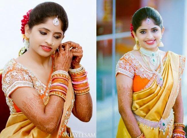 Bride In Rich Work Orange Blouse Orange Blouse Blouse