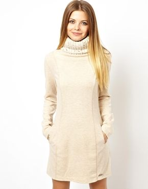 Superdry Longline Jumper Dress With Pockets, perfect for winter and great with skate shoes :)