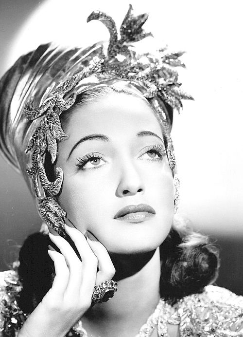 """oldhollywood-glamour: """" Dorothy Lamour photographed for Road to Morocco. (1942) """""""