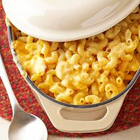 One bite of our Creamy Macaroni and Cheese and you'll never go back to the boxed stuff. Get more macaroni and cheese recipes: http://www.bhg.com/recipes/quick-easy/macaroni-and-cheese-recipes/?socsrc=bhgpin041413homemademac=7