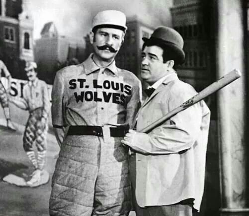 """Here's birthday star Bud Abbott and partner Lou Costello performing their famous """"Who's on First"""" comedy routine.  Bud was born on October 2, 1897."""