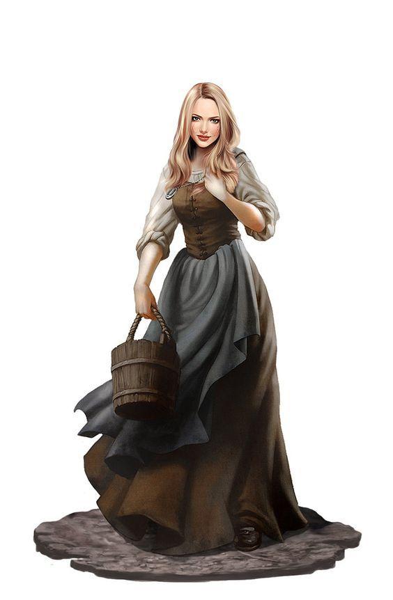Dit is Feyre, het hoofdpersonage van het verhaal. Ze werd gestraft omdat ze Andras had vermoord. Haar straf was dat ze moest leven in Prythian, het land van de Elfiden. Daar ontmoet ze Tamlin, de edelheer van het Lentehof. Ze wordt verliefd op hem en helpt hem de plaag te verslaan. Ze mag in Prythian blijven wonen nadat de plaag was verdwenen.