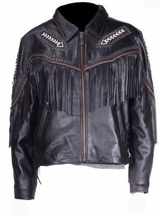 Arrows and Fringe Ladies Leather Jacket