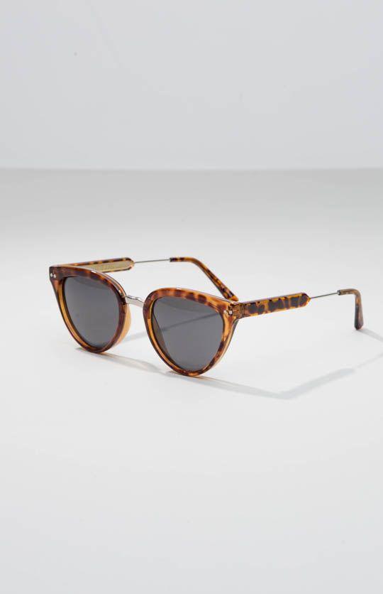Spitfire | Yazhoo Sunglasses - Brown Tort/Gold Black | peppermayo.com