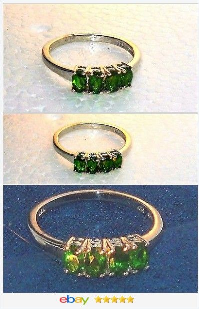 Russian Chrome Diopside ring 1.35 carat size 8 Sterling USA Seller #EBAY http://stores.ebay.com/JEWELRY-AND-GIFTS-BY-ALICE-AND-ANN