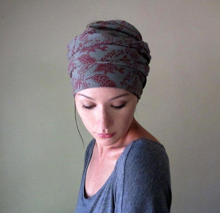 My Victorian Heart Head Scarf - All In One Headband, Turban, Hair Wrap - Womens Neck Bow - Ascot - Sash.