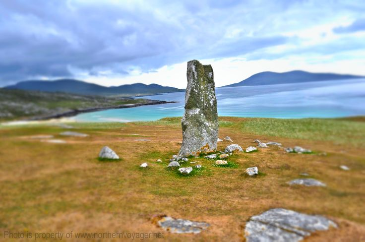 Standing Stone Isle of Harris Scotland Highland Scottish Ancient History Travel Photography Image www.northernvoyager.net  Photo by Lee Mailer