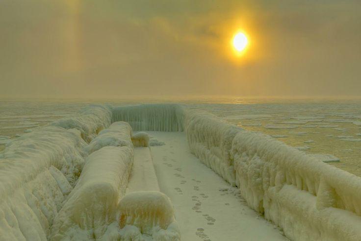 Amazing photos of the frozen Black Sea.