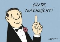 Gute Nachricht! - Loriot -Humor- Postkarte