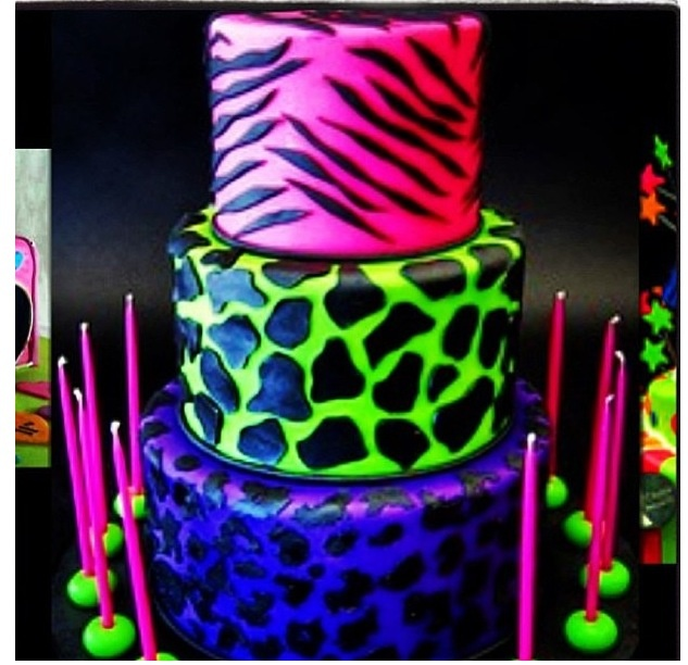 Cool Neon Color Cake Cake Pinterest Colors Color