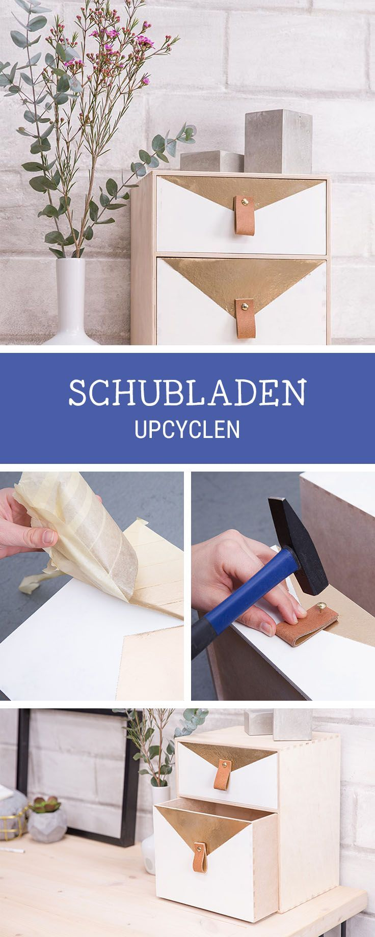 Einfaches Möbel-DIY: Schublade in ein Schreibtisch-Utensilo verwandeln / upcycling diy: turn a drawer into an utensilo for your workspace, storage idea via DaWanda.com