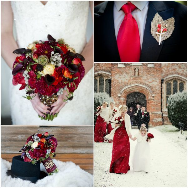 Weiße Weihnachten Hochzeit mit Rot und Grün Dekoration Inspiration   Optimale Karten für Verschiedene Anlässe