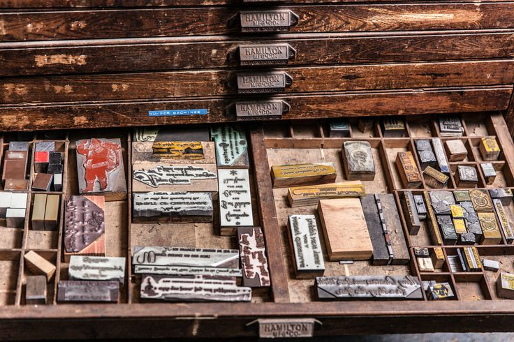 Behind the scenes of our letterpress studio! #classic
