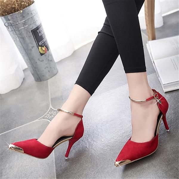 Women Suede Pumps High Heels Sexy High Heels Shoes Women Pointed Toe Thin  Heel Ladies Wedding Shoes About Fit: Fits true to size, take your normal  sizeItem ...