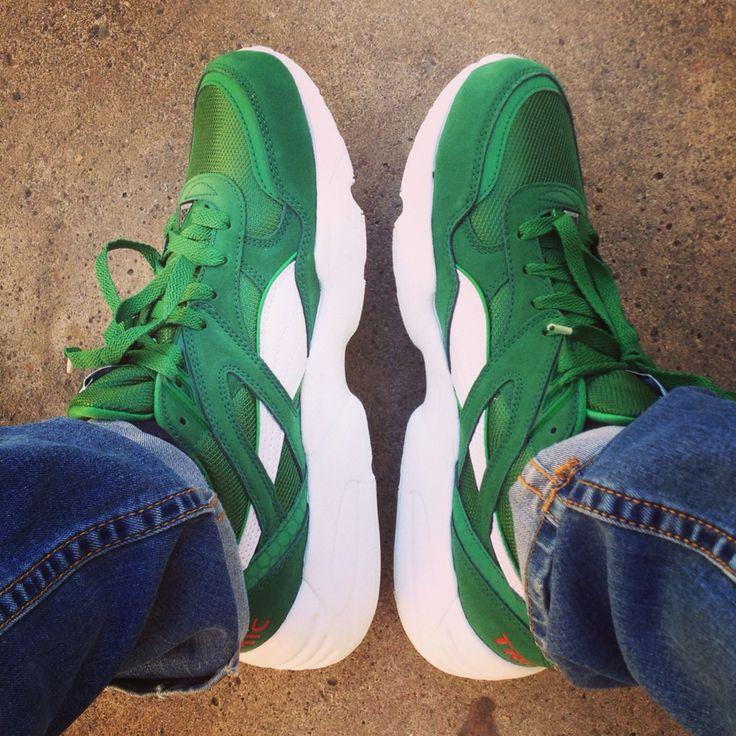 10' Puma Green Box Pack, Trinomic R698 / ✨ #puma #trinomic #trinomicR698 #greenboxpack #pumalab #sneakers #sneakerfreaker #foreverfaster