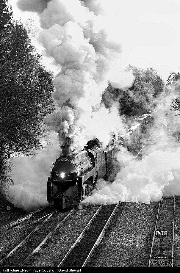 RailPictures.Net Photo: NW 611 Norfolk & Western Steam 4-8-4 at Spencer, North Carolina by David Stewart