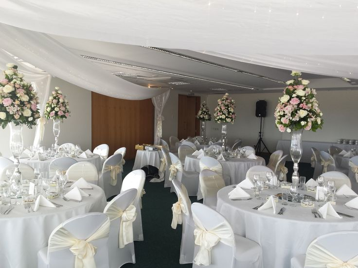 22 best wedding reception style by covers images on pinterest covers decoration hire classic white cream and flowers wedding junglespirit Choice Image