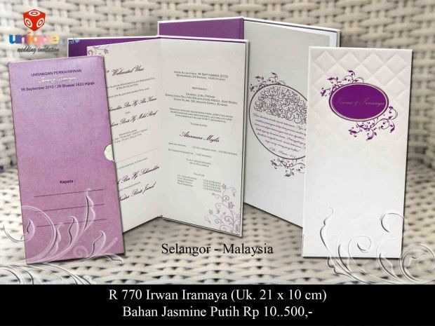 Undangan Pernikahan – R770 || Unique Card Wedding Invitation