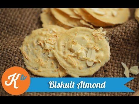 Resep Biskuit Almond (Almond Tuile Recipe Video)   NINA CHRESTELA