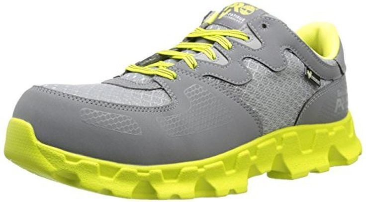 Timberland PRO Women's Powertrain Alloy Toe EH W Industrial Shoe,Grey/High Vis Green Microfiber,8.5 W US<div><div>092672065 Timberland PRO Women's Powertrain Safety Shoes - Grey - 8.5\W</div><ul><li>Premium microfiber leather and rugged athletic breathable mesh</li><li>Alloy safety toe for lightweight protection</li><li>Cement construction for flexibility and reduced break-in time</li><li>Mesh lining with antimicrobial treatment for odor control and comfortable feet</li><li>New proprietary…